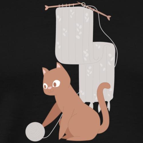 Kitty Yarn - Men's Premium T-Shirt