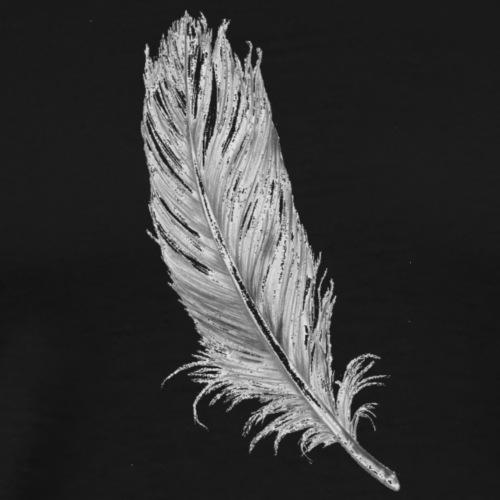 Feather clipart tumblr plume - Men's Premium T-Shirt