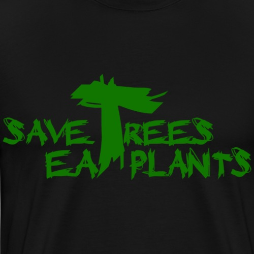 Eat plants, green - Men's Premium T-Shirt