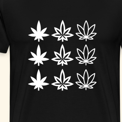 Nine Cannabisleafs - Men's Premium T-Shirt