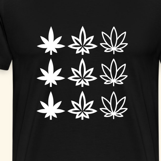 Nine Cannabisleafs