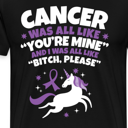 Funny Cancer Bitch Please Unicorn - Men's Premium T-Shirt