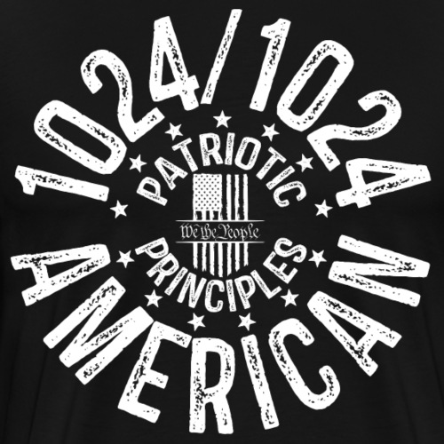 OTHER COLORS AVAILABLE 1024 AMERICAN WHITE - Men's Premium T-Shirt