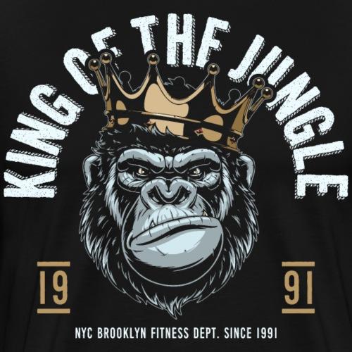 jungle king fitness gorilla - Men's Premium T-Shirt