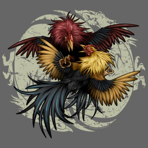 Ying Yang Gallos by Rollinlow - Men's Premium T-Shirt