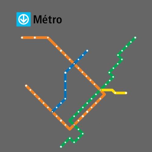 Plan metro blanc 2016 png - Men's Premium T-Shirt