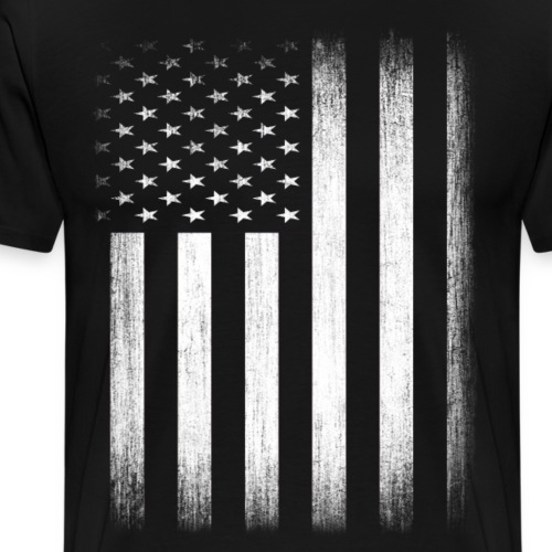 US Flag Distressed - Men's Premium T-Shirt