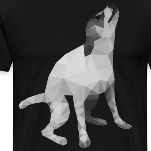 Low Poly Dog - Men's Premium T-Shirt