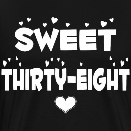 Sweet Thirty Eight Happy Thirty Eight Birthday - Men's Premium T-Shirt