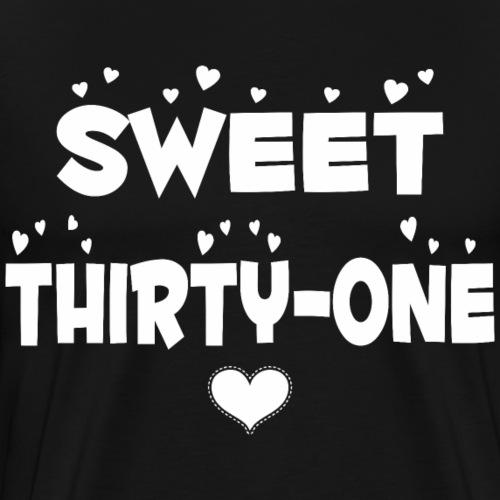 Sweet Thirty One Happy Thirty One Birthday - Men's Premium T-Shirt