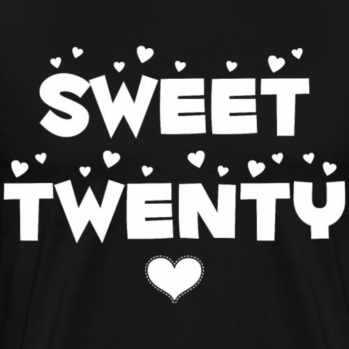 Sweet Twenty Happy Twenty Birthday - Men's Premium T-Shirt