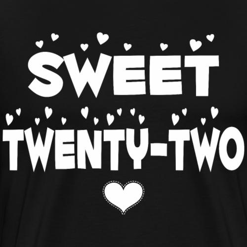 Sweet Twenty Two Happy Twenty Two Birthday - Men's Premium T-Shirt