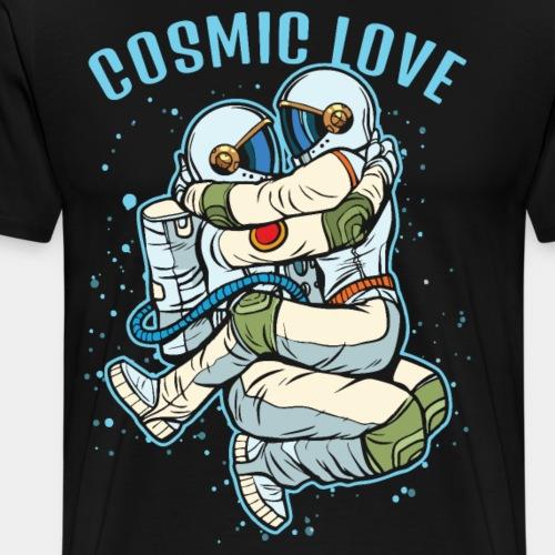 cosmic love astronaut space - Men's Premium T-Shirt
