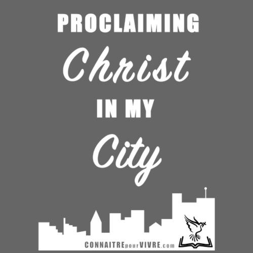 Proclamer le Christ dans ma ville - T-shirt premium pour hommes