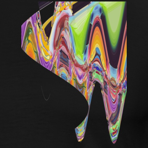 wave of abstract bird - Men's Premium T-Shirt