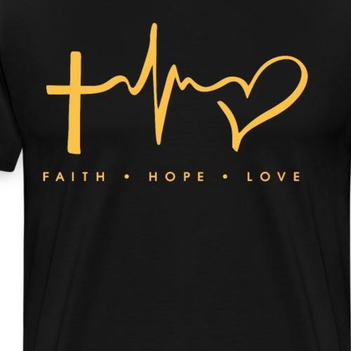 Faith Hope Love Gift For A Christian God Fan Jesus - Men's Premium T-Shirt