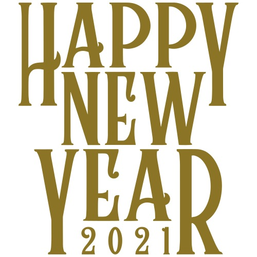 Metallic Gold Print Happy New Year 2021 - Men's Premium T-Shirt