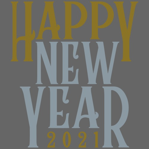 2021HAPPY NEW YEAR! in Metallic Gold & Silver - Men's Premium T-Shirt