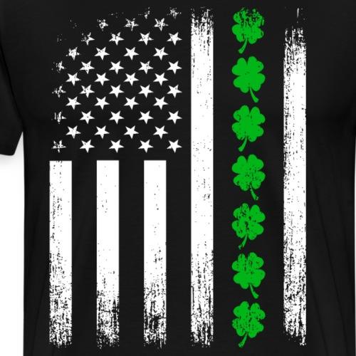 Vintage US Shamrock Flag - Men's Premium T-Shirt