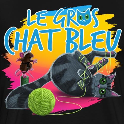 Le Gros Chat Bleu et Bully - T-shirt premium pour hommes