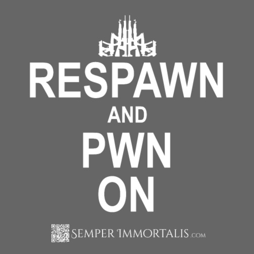 RESPAWN and PWN ON (white) - Men's Premium T-Shirt