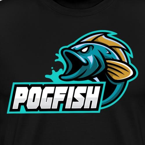 PogFish Text Logo - Men's Premium T-Shirt