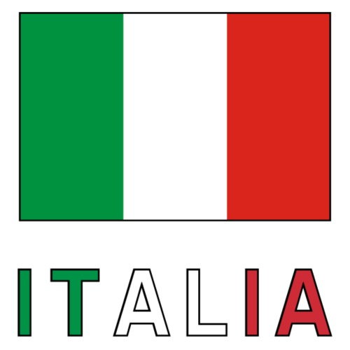 Italian Flag and Italia - Men's Premium T-Shirt