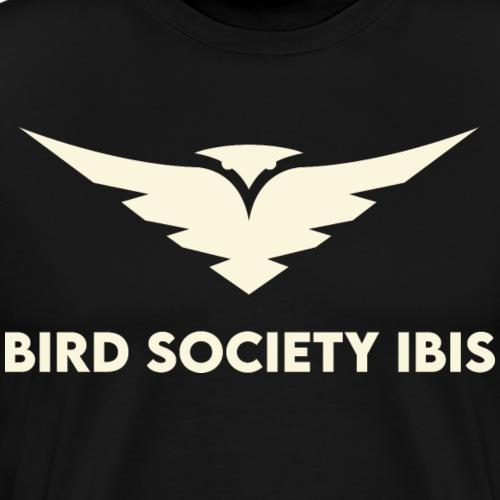 Bird Society Ibis Text Logo - Men's Premium T-Shirt