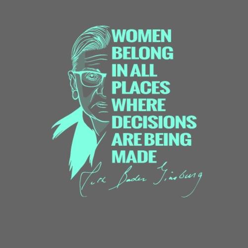 Ruth Bader Ginsburg RBG Court Judge LGBT I dissent - Men's Premium T-Shirt