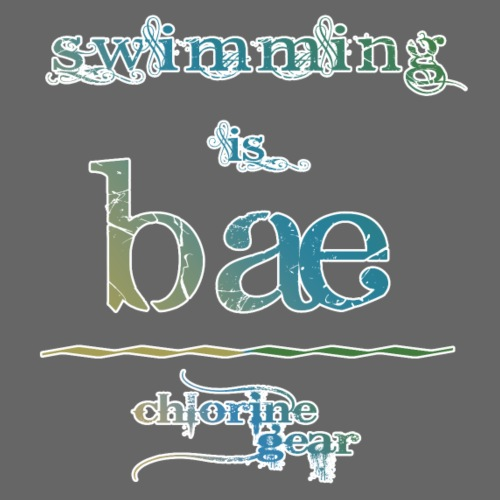 swimming is bae - Men's Premium T-Shirt