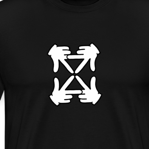 Inverse logo reflection - Men's Premium T-Shirt