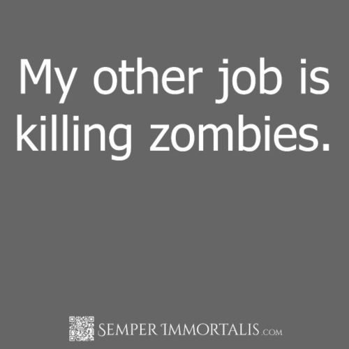 Job killing zombies (white) - Men's Premium T-Shirt