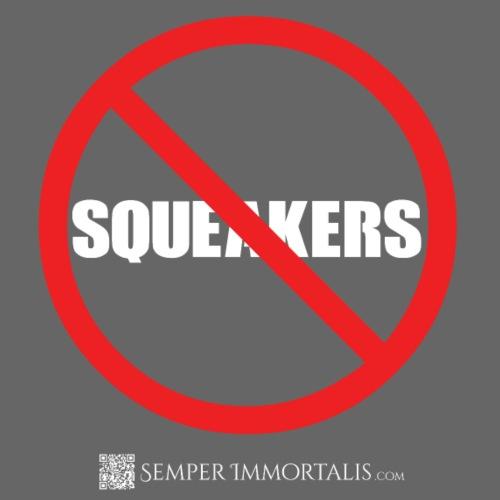 No Squeakers (white) - Men's Premium T-Shirt