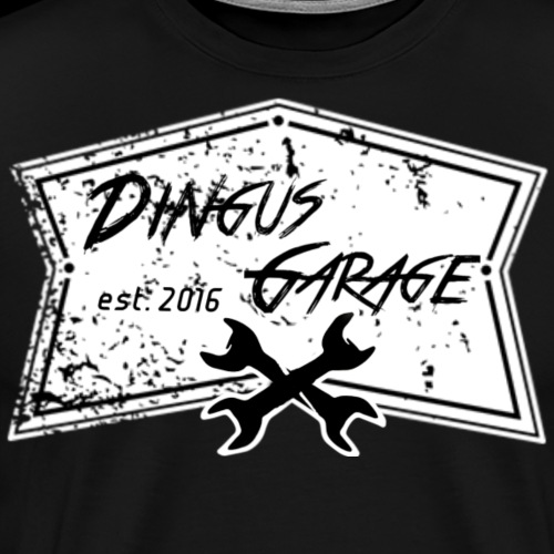 Dingus Garage, white - Men's Premium T-Shirt