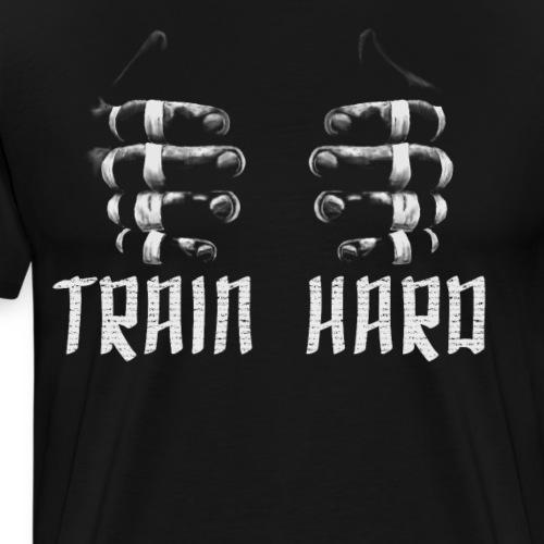 BJJ Brazilian Jiu-Jitsu finger tape train hard - Men's Premium T-Shirt