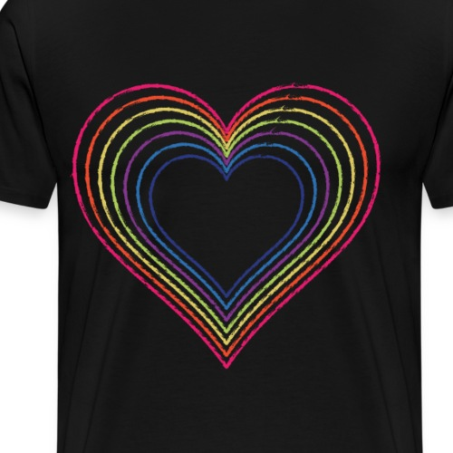 Heart rainbow - Men's Premium T-Shirt
