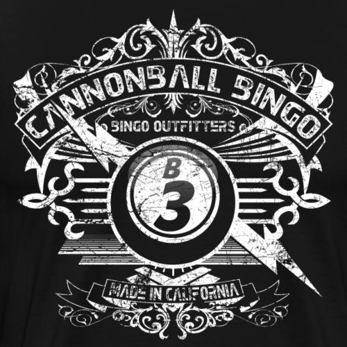 Vintage Cannonball Bingo Crest White - Men's Premium T-Shirt