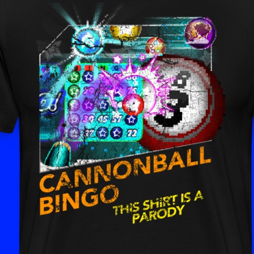 Vintage Cannonball Bingo Box Art Tee - Men's Premium T-Shirt