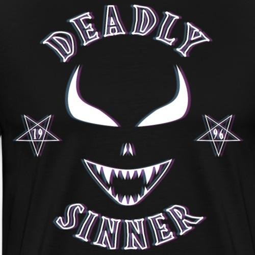 Deadly Sinner VHS Logo - Men's Premium T-Shirt