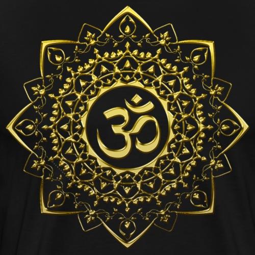 OM - Gold Mandala - Men's Premium T-Shirt