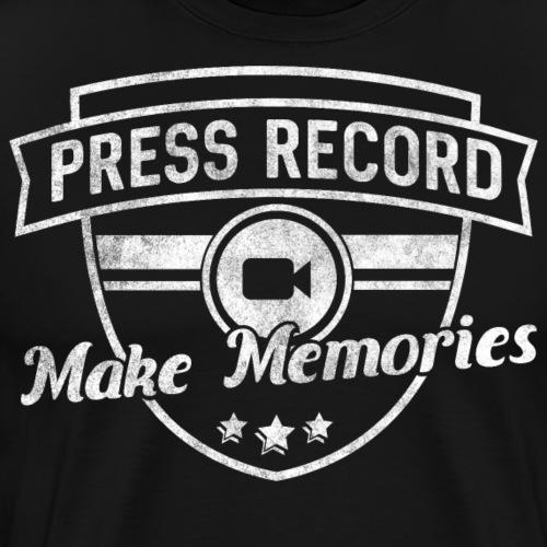 pressrecord_makememories2 - Men's Premium T-Shirt