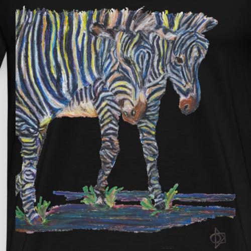 Zebras on the Wild Side - Men's Premium T-Shirt