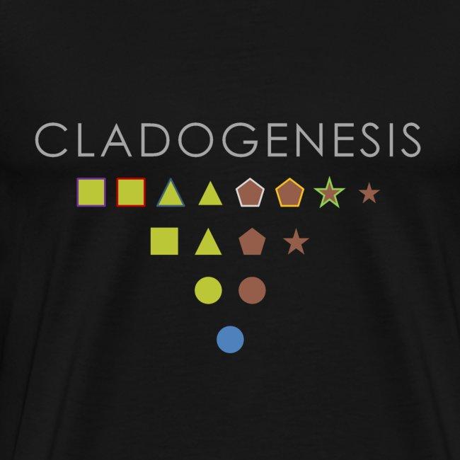 Minimalist design: cladogenesis (dark background)