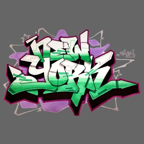 RANGE - Design for New York Graffiti Color Logo - Men's Premium T-Shirt