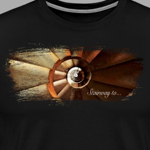 Stairway to... Artistic Paint Swoosh - Men's Premium T-Shirt
