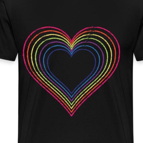 Heart rainbow - Men's Premium T-Shirt