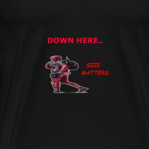 Deadpool SIZE MATTERS - Men's Premium T-Shirt