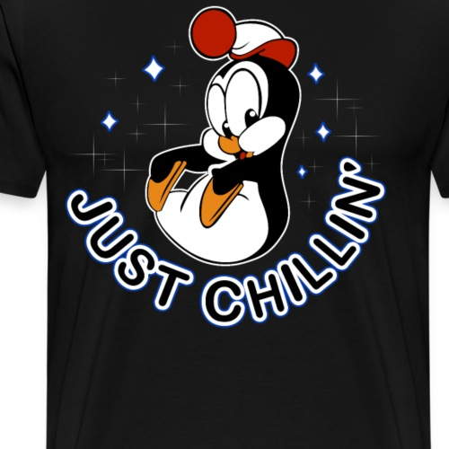 Just Chillin Penguin - Men's Premium T-Shirt