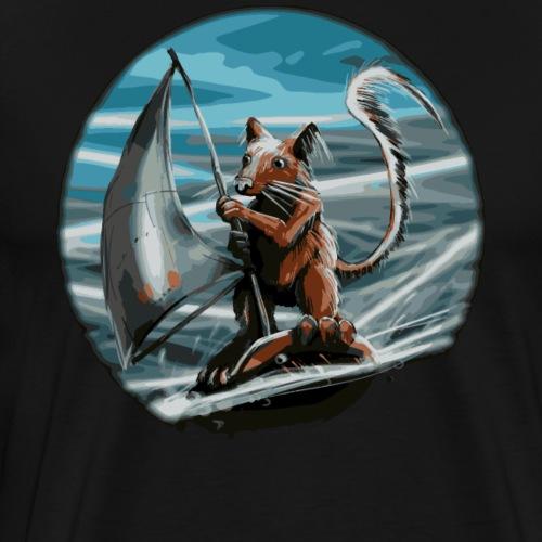 Squirrel surfer - Men's Premium T-Shirt