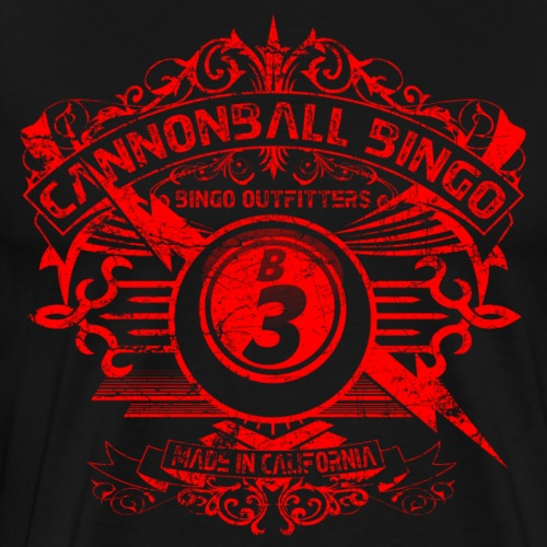 Vintage Cannonball Bingo Crest Red - Men's Premium T-Shirt